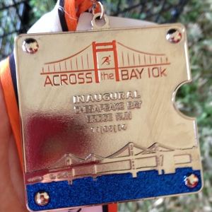 I like the design of the finisher medal. (Vanessa Junkin photo)