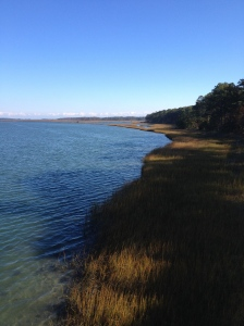 I captured this water view as I ran across a bridge from the refuge area to the rest of Chincoteague Island. (Vanessa Junkin photo)