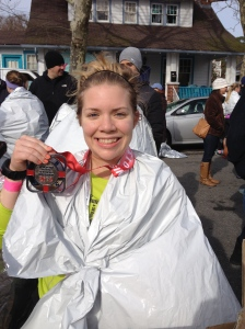 Here I am after finishing my first marathon, the Rehoboth Beach Seashore Marathon, on Dec. 7, 2013. (Michael Piorunski photo)