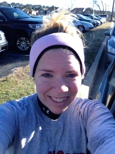Here I am after a cold five-miler in Salisbury. (Vanessa Junkin photo)