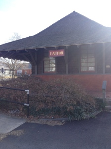 This train station building was right by where I parked to use the trail, off Goldsborough Street. (Vanessa Junkin photo)