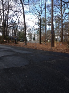 Here's where I did my hill workout today, Jan. 30, near Ben's Red Swings in Salisbury. (Vanessa Junkin photo)