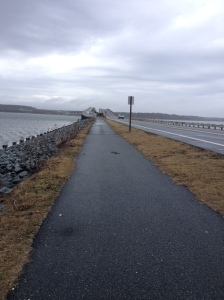 Here's the pedestrian bridge that I used for my hill work. (Vanessa Junkin photo)