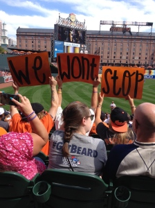 According to the race map, the start and finish of the race are near Oriole Park at Camden Yards, where I was when I took this photo at an Orioles game. (Vanessa Junkin photo)