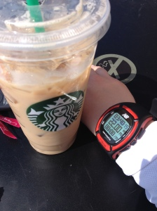I enjoyed an iced chai with soy after finishing a 22-mile run, the longest of my marathon training. (Vanessa Junkin photo)