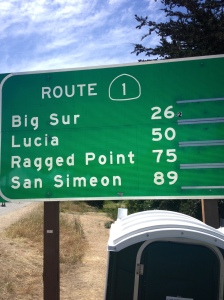 "I took this picture after I finished the race in Carmel. As you can see, Big Sur is 26.2 miles away — someone added the "".2."" (Vanessa Junkin photo)"