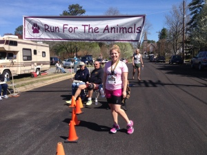 Here I am after finishing the Run for the Animals in Onancock the morning of April 12. (Angelo Perez photo)