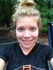 I took this selfie after getting in a run of a little more than three miles for National Running Day. (Vanessa Junkin photo)