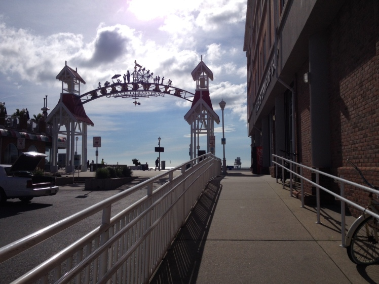 The Ocean City Boardwalk greeting in downtown Ocean City. (Vanessa Junkin photo)