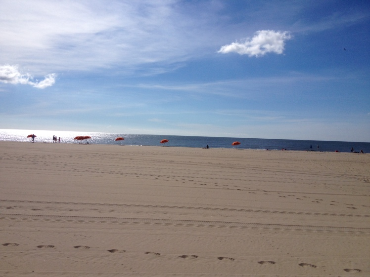 Ocean City's beach wasn't too crowded in the morning. (Vanessa Junkin photo)