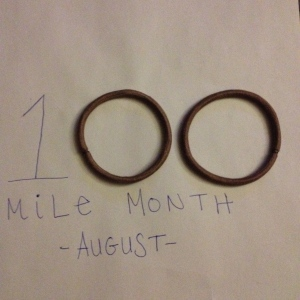 I passed the 100-mile milestone this August. (Vanessa Junkin photo)