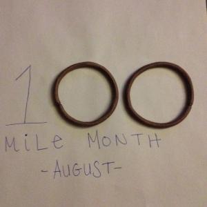 I passed the 100-mile milestone this August. (Vanessa Junkin photo)