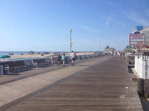 Ocean City's Boardwalk is pictured here, on our way back. (Vanessa Junkin photo)