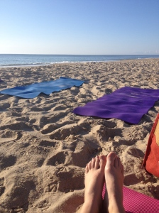 I took a picture before the beach Pilates class started on Friday. (Vanessa Junkin photo)