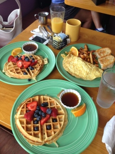 "This is the ""before"" picture from our post-run breakfast at Cafe Azafran. (Vanessa Junkin photo)"