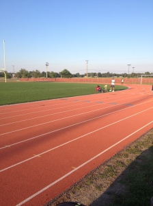 I ran the 1600 in the All-Comers Track Meet on Saturday, July 31. (Vanessa Junkin photo)