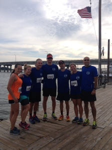 There was a strong showing from Salisbury's 11:30 club at the Skipjack Run. (Veronica James photo)