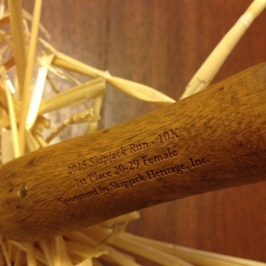 Here's a close-up of the writing on one side of the oyster knife. (Vanessa Junkin photo)