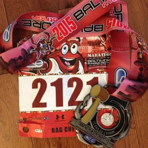 Here's my finisher medal and race bib. (Vanessa Junkin photo)