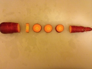 I creatively cut up this carrot after reaching the 1,000-mile milestone. (Vanessa Junkin photo)