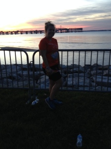 Here I am before the start of the Across the Bay 10K. (Veronica James photo)