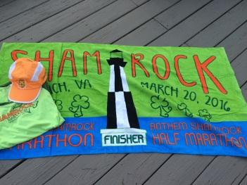 Shamrock Marathon swag