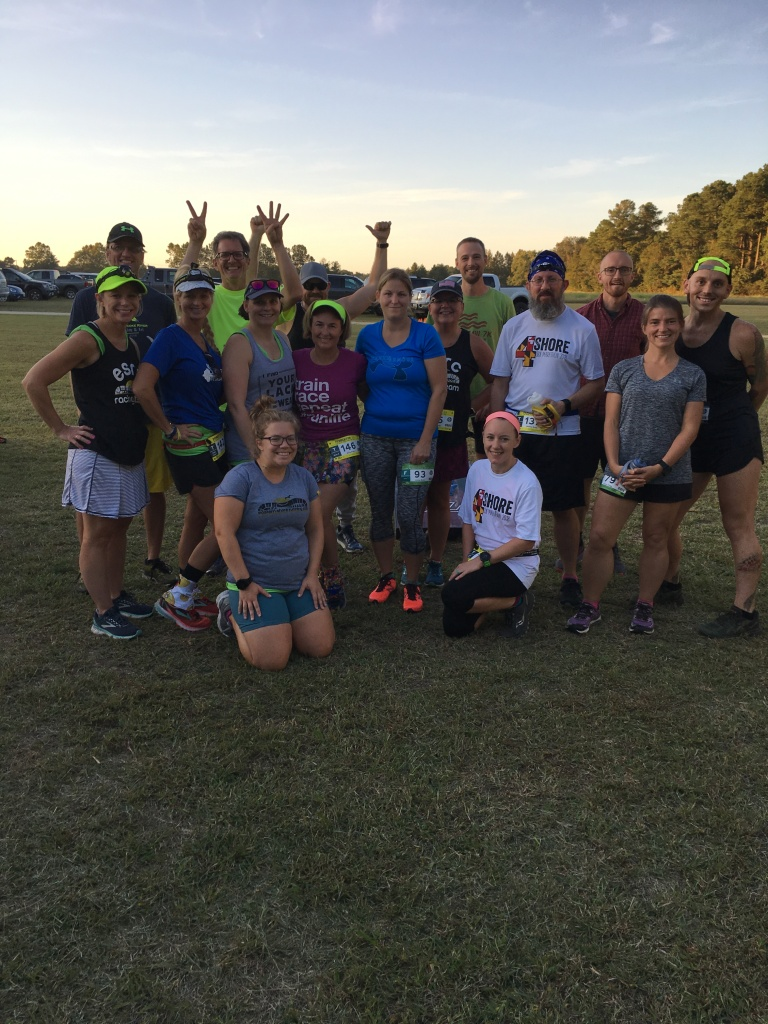 Eastern Shore Running Club members in a group photo.