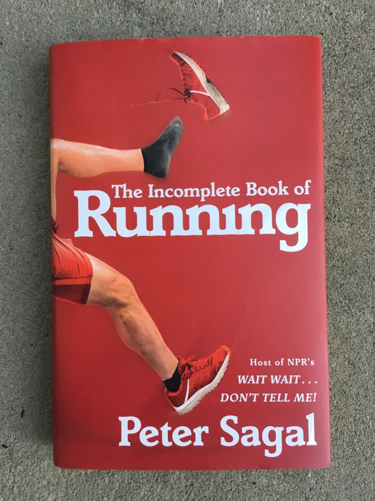 "The cover of ""The Incomplete Book of Running"" by Peter Sagal."