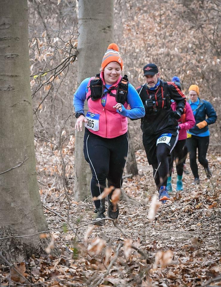 Vanessa Junkin smiles as she runs the PHUNT 25K.