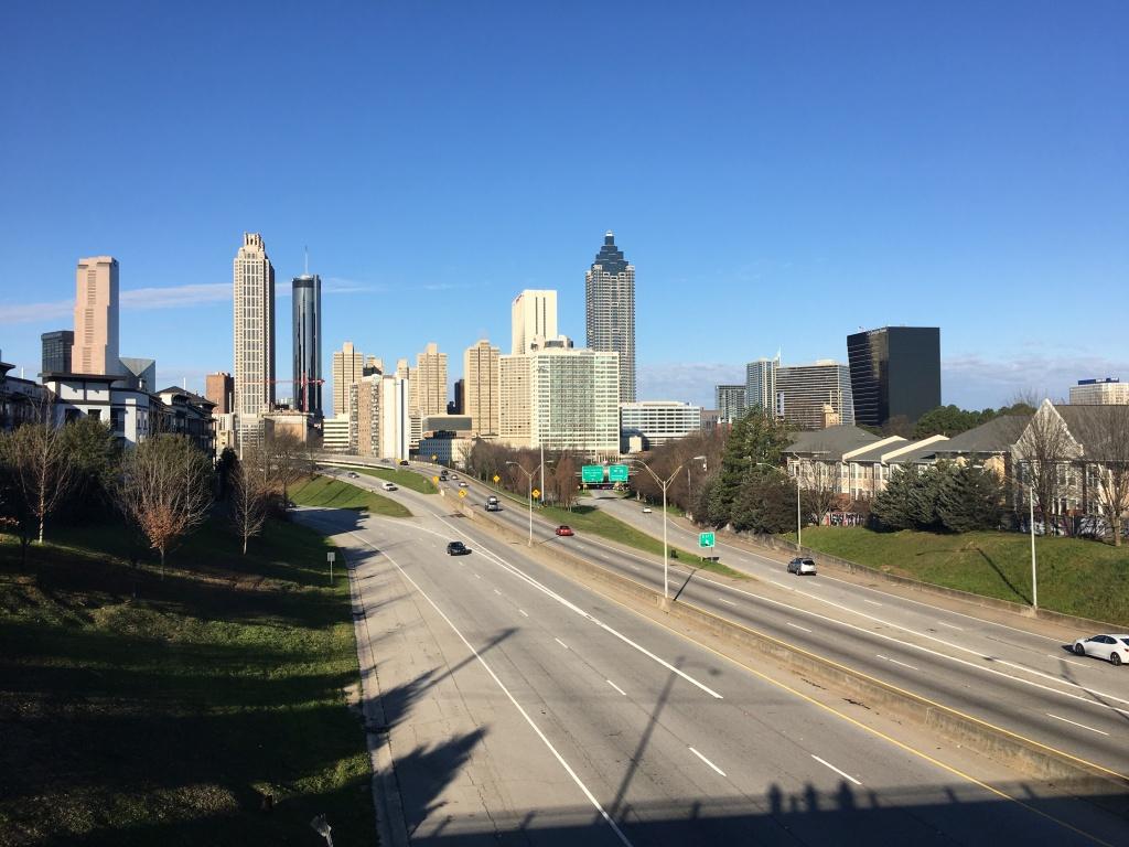 Atlanta skyline as shown from Jackson Street Bridge