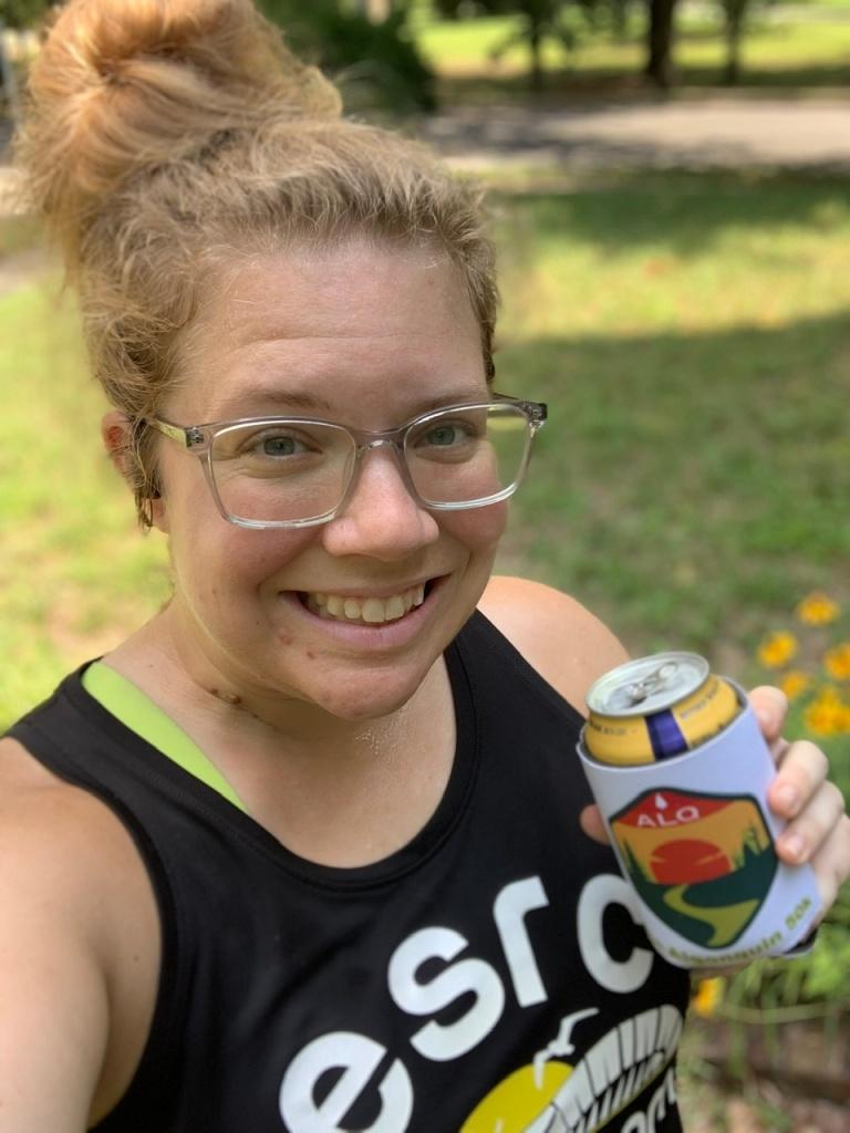 Selfie of Vanessa Junkin posing with beer.