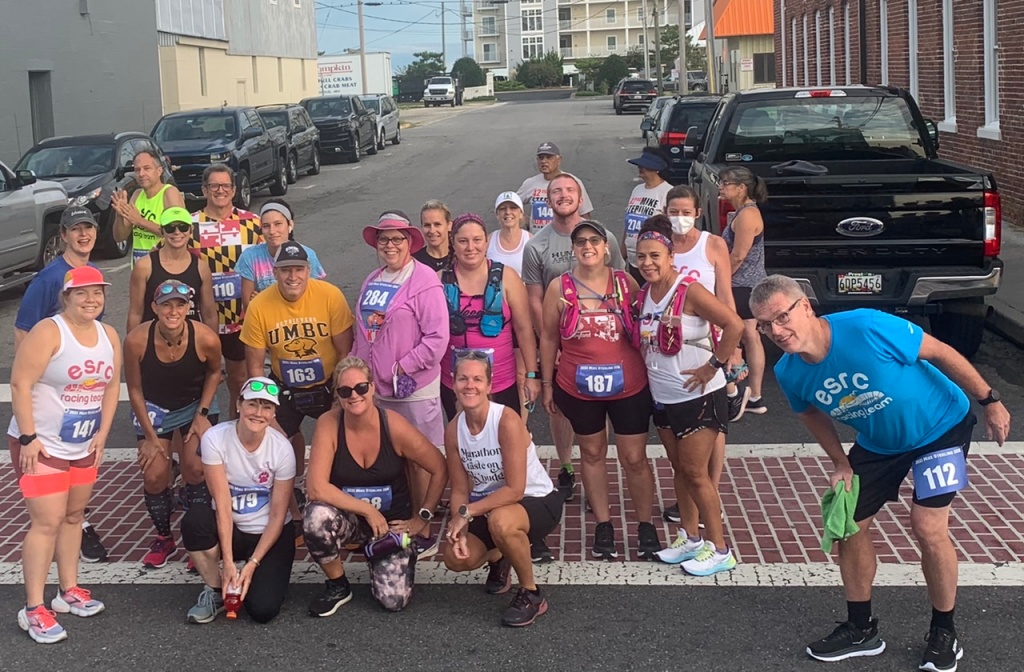 Group photo of Eastern Shore Running Club runners.
